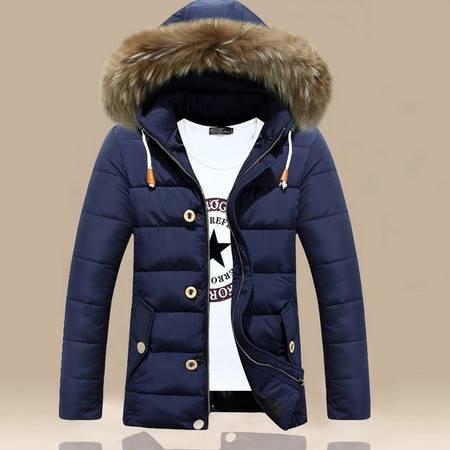 冬季加厚羽绒棉衣男士潮冬天外套韩版青年修身男款棉服中长款棉袄ouf433