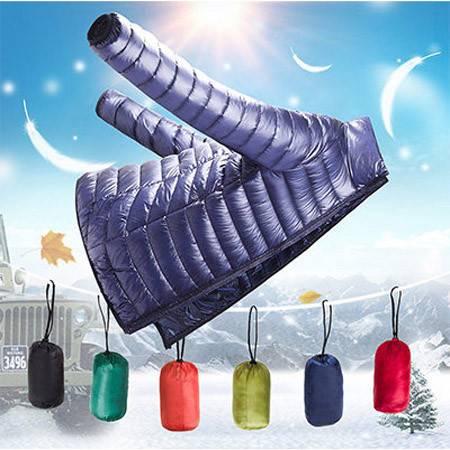 冬季新款轻薄羽绒服男 韩版修身纯色短款羽绒夹克男外套ouf437
