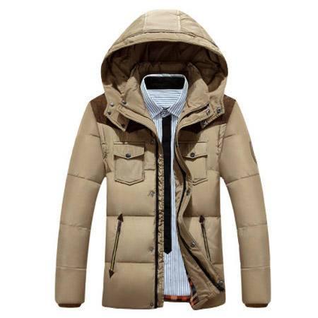 男士加厚短款羽绒服 冬季白鸭绒上衣外套冬装男装衣服ouf434