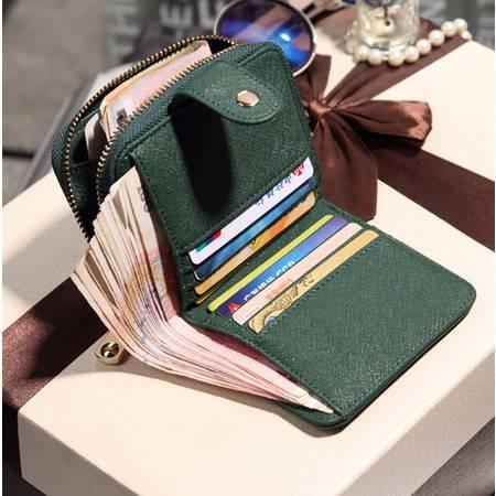短款钱包女韩版潮零钱包小钱包拉链搭扣简约皮夹女士卡包新款ody183