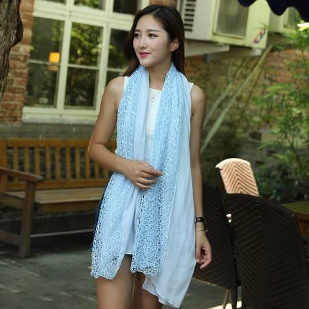 新款镂空百搭 披肩围巾两用长款超大女纱巾 B1605