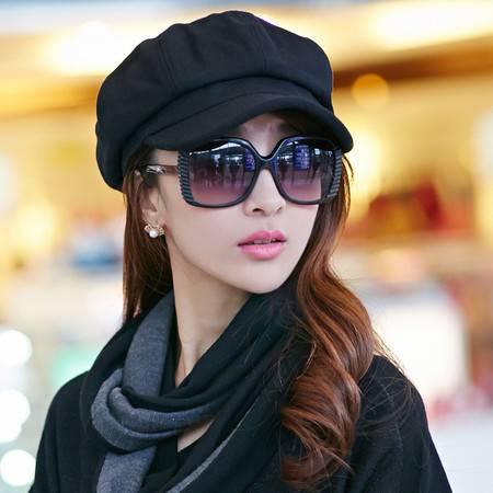 秋季韩版潮休闲百搭羊毛呢贝雷帽鸭舌帽英伦复古八角帽B7145
