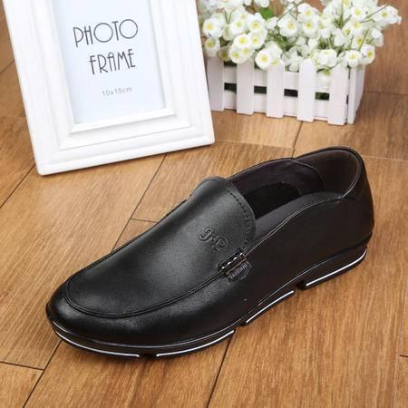 上海牛头牌正品 真皮男鞋休闲皮鞋透气低帮单鞋爸爸鞋5319