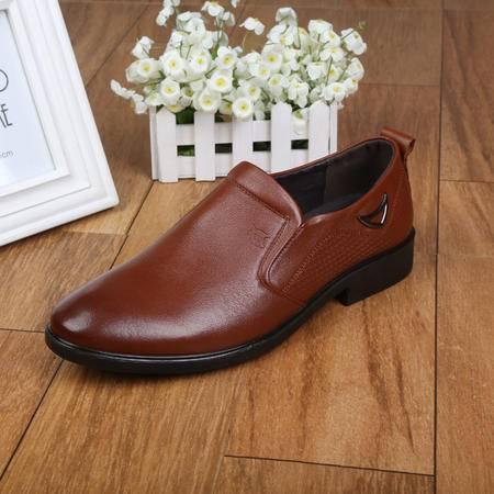 上海牛头牌正品 真皮男鞋 正装皮鞋透气 低帮单鞋商务工作鞋BD19061