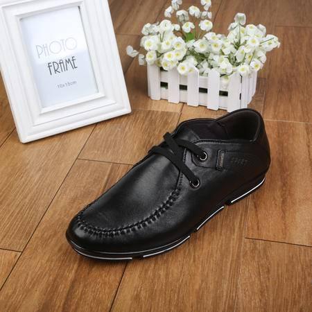 上海专柜新品牛头牌男鞋 真皮男士系带休闲牛皮鞋 工作鞋男D31088