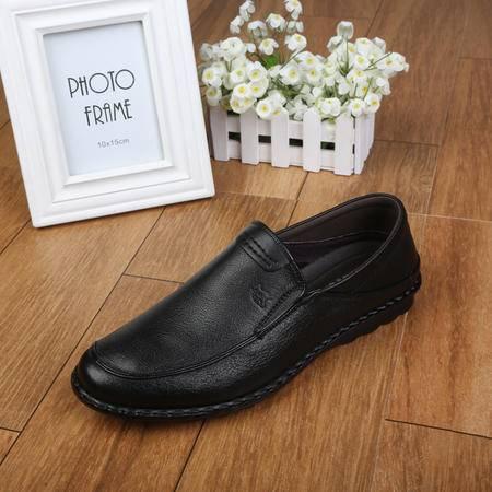 上海牛头牌正品 透气男士正装商务皮鞋男 真皮男鞋低帮鞋BD56002