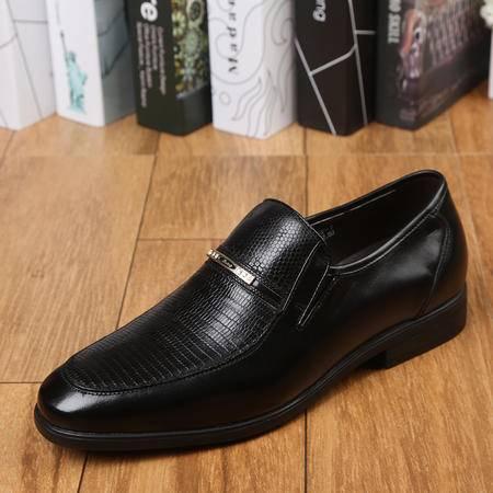 上海牛头牌正品 透气男士正装商务皮鞋男 真皮男鞋低帮鞋05472-1