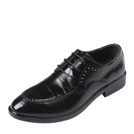 上海牛头牌男鞋 专柜新品鞋真皮 男士系带休闲牛皮鞋休闲鞋男H82607