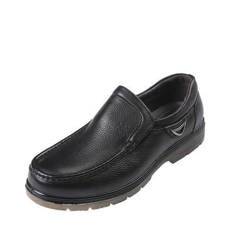 上海牛头牌正品透气男鞋 正装商务皮鞋男 真皮流行办公室低帮鞋D28002