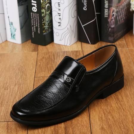 上海牛头牌正品真皮男鞋  爸爸鞋商务正装皮鞋单鞋工作鞋男66707-3