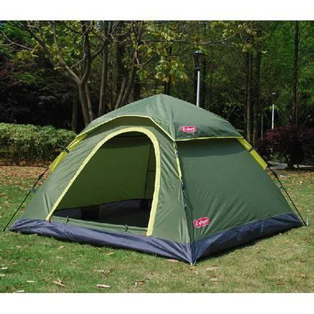欧德仕全自动帐篷3-4人公园旅游露营野营速开防雨EZ-1503 新枫景