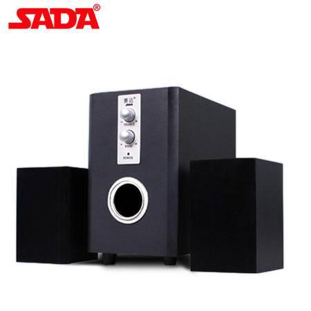 SADA 赛达D-200TU音响电脑音箱USB电脑音箱低音炮笔记本 黑色 10个装