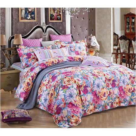 富安娜 圣之花 床单四件套 蝶迷花香