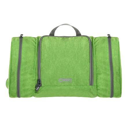 chooci缤彩双侧袋平铺洗漱包CR0105(绿,深蓝)