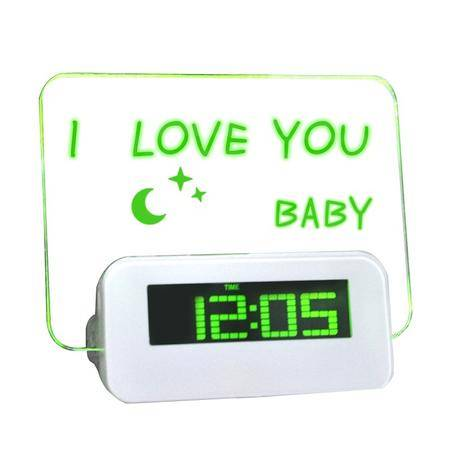 天美时/TIMESS创意LED留言板闹钟(绿)688A