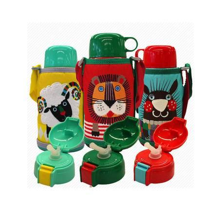 虎牌/TIGER日本新款儿童保温杯壶 保冷杯盖吸管两用水杯狮子水杯子MBR-S06C 小绵羊