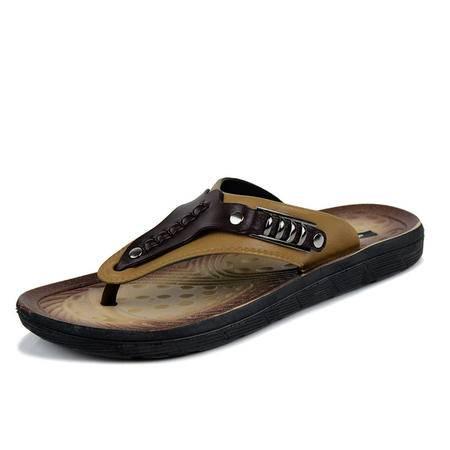 2015夏季韩版夹脚人字拖 男拖鞋 沙滩凉拖鞋 软面防滑潮流平底休闲拖鞋 133