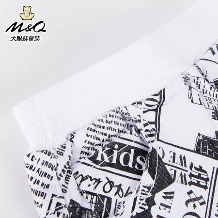 M&Q大眼蛙童装 女童个性印花松紧腰短裤子中大童儿童夏季潮流短裤