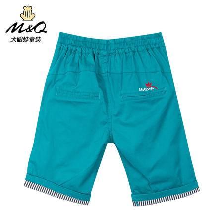 M&Q大眼蛙童装 男童新时尚夏装中大童儿童松紧腰针织裤休闲五分裤