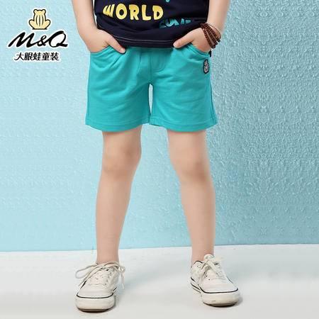 M&Q大眼蛙童装 男童夏季新款松紧腰短裤中大童儿童休闲运动短裤子