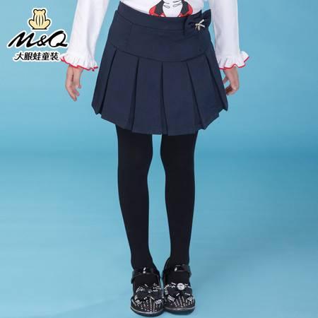 M&Q大眼蛙童装 女童韩版秋装纯色淑女短裙中大童儿童休闲半身裙子