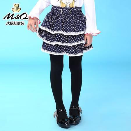 M&Q大眼蛙童装 女童韩版秋装潮流淑女短裙中大童儿童时尚拼接短裙