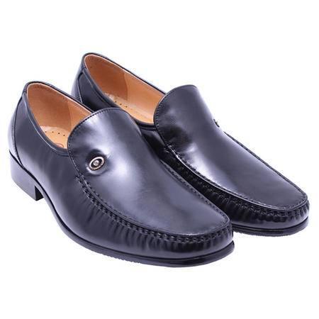 法国路易保罗 专柜正品 84681 头层羊皮男鞋 精品正装鞋 黑