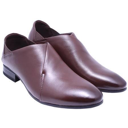法国路易保罗 专柜正品 LB7129-3 头层牛皮男鞋 精品正装鞋 棕