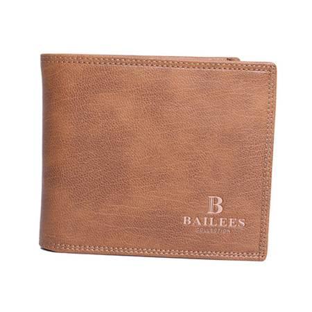英国百利BAILEES 横款 牛皮 男士钱包票夹 B-56229-336 卡其