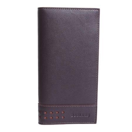 英国百利BAILEES 长款 进口头层牛皮 男士钱包票夹 BL-92016-678 深啡