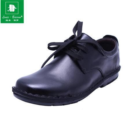 法国路易保罗 新款正品 911 真皮头层牛皮商务休闲皮鞋 2色