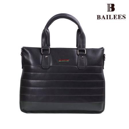 英国百利BAILEES 专柜新品 横款 进口PU男士背提包 B-16235-562 黑