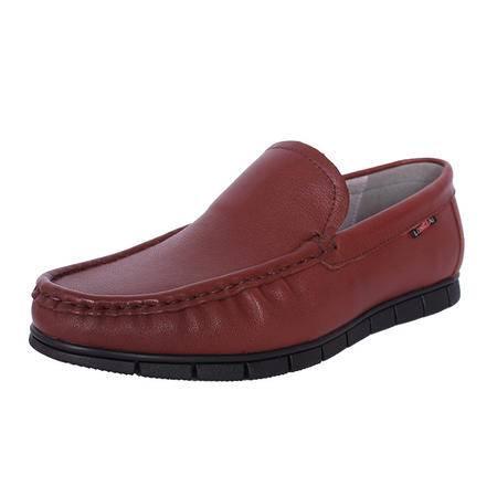 法国路易保罗新款正品头层牛皮休闲男鞋套脚单鞋 9065-5 黄棕