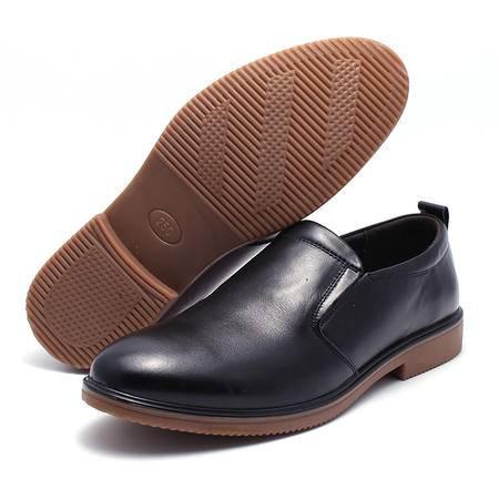 法国路易保罗新款正品头层牛皮休闲男鞋套脚单鞋 15D05 2色