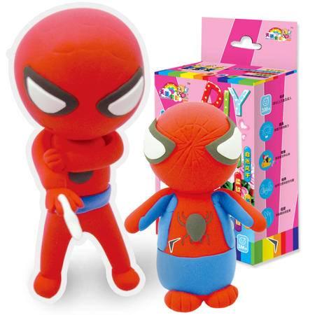 天使彩虹儿童益智玩具经典动漫 蜘蛛侠 DIY超轻粘土材料包 1套2款
