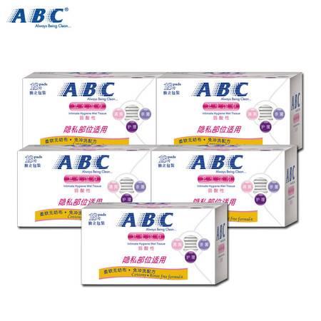 ABC卫生湿巾160mm*180mm*18片*5盒