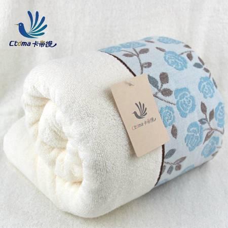 高档布艺玫瑰纯棉浴巾