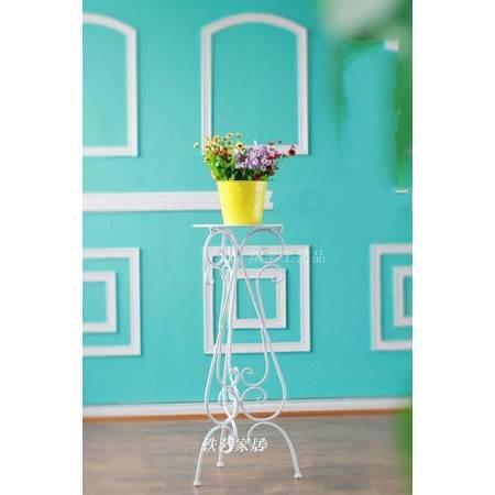 铁艺花架落地单层花盆架仿古花几室内阳台客厅吊兰绿萝白