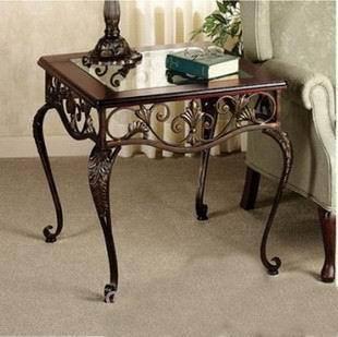 滢发 欧式铁艺茶几 客厅小茶几 铁艺家居 餐桌 可定做