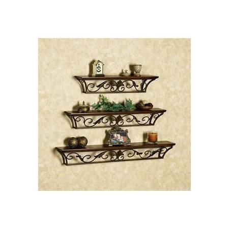 欧式铁艺 时尚浴室壁挂置物架收纳架 壁饰 仿古厨房架 现货ty158