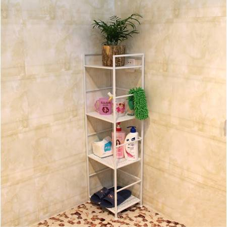欧式 铁艺置物架 四层浴室架 花架书架落地收纳架储物架