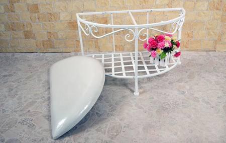 欧式铁艺换鞋凳 穿鞋凳 半圆 收纳鞋架 床尾沙发凳 试鞋凳