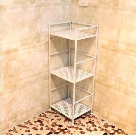 欧式 铁艺置物架 三层浴室架花架书架落地收纳架储物架