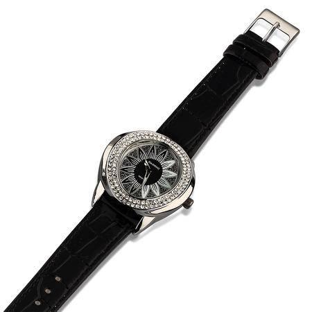 DAHONG大宏正品韩版个性时尚女式皮带手表水钻表花瓣女士潮时装表 合金表HC-60016