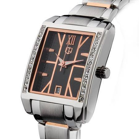大宏新风韩版时尚潮流女式个性高雅气质奢华水钻表女士手表时装表 钢表SC-80020