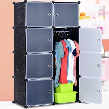 索尔诺组合式简易魔术衣柜 单人小号新品钢架树脂片加固衣橱 衣柜M3508