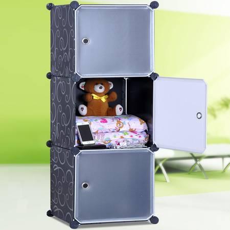 索尔诺简易收纳柜 环保柜子 自由组合储物柜 床头柜3503