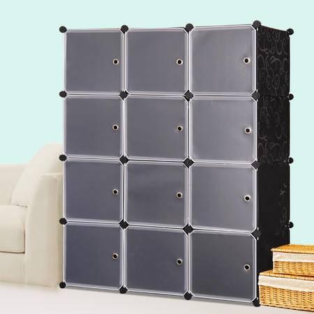索尔诺组合式简易衣柜DIY组装树脂衣橱折叠塑料收纳拆装单人柜