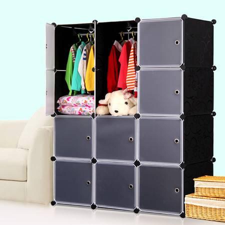 索尔诺宝宝衣柜儿童收纳柜婴儿储物柜整理塑料卡通组装衣物收纳箱