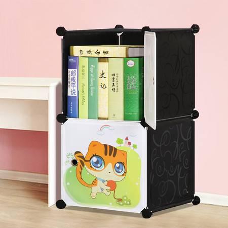 索尔诺卡通书柜儿童书架自由组合玩具收纳柜简易储物置物架柜子
